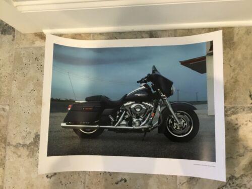 2008 HARLEY DAVIDSON STREET GLIDE MOTORCYCLE DEALER PRINT POSTER