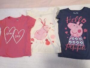 Toddler t shirts. Size 5T. Peppa pig.