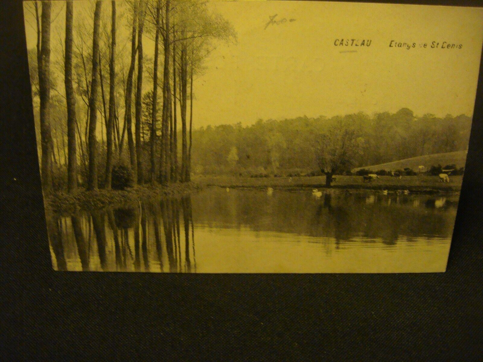 CASTEAU ( entre Soignies et Mons ) Les étangs de Saint Denis (peu courante) 1914