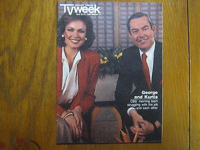 April 1985 Chicago Tribune Tv Week Maga Phyllis George Bill Kurtis Kenneth Welsh