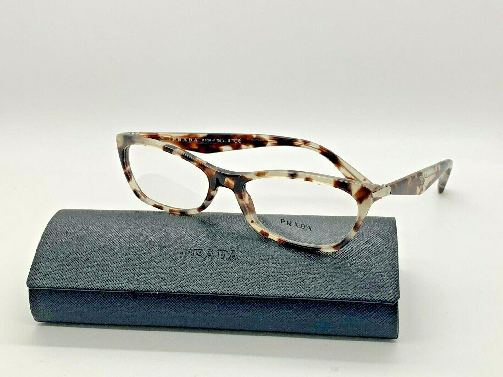 Prada Eyeglasses VPR15P ROK-101 BLACK /HAVANA 53 16 135