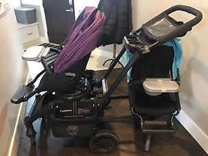 Orbit Baby G3 Double Stroller and Car seat with accessories
