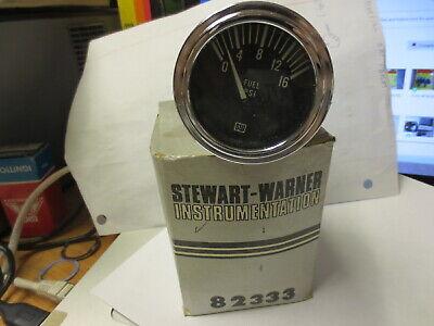 Stewart Warner Electric Fuel PSI Gauge 0-16