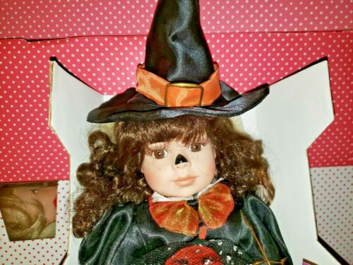 Dreams and Treasures Pumpkin Polly Halloween Witch Doll