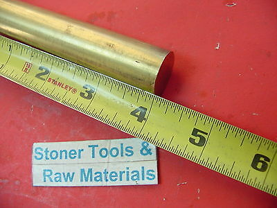 34 C360 Brass Round Rod 4 Long Solid .750 Diameter New Lathe Bar Stock H02