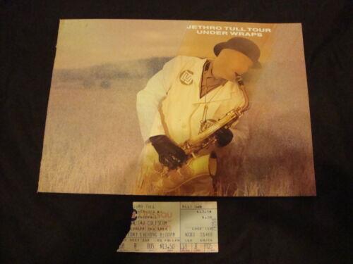JETHRO TULL 1984 Concert Program Book and Ticket Stub