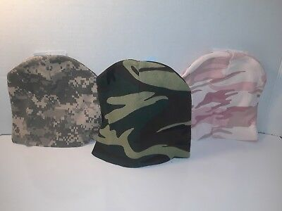 Camouflage Infant Crib Caps - ACU Digital, Woodland Camouflage, Baby Pink Camo