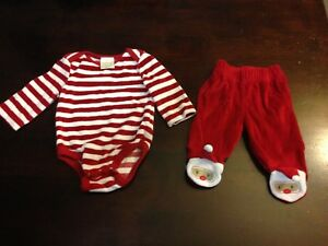 1 month Christmas outfit