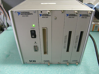 National Instruments Scxi-1000 Scxi 1102 2x Scxi 1161 Modules
