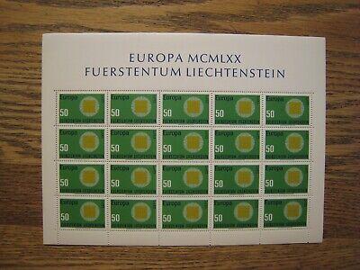 Liechtenstein Europa lot of 5 S/S 20v each  MNH OG