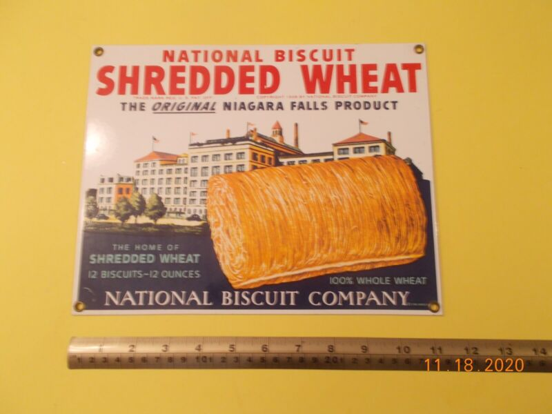 Heavy Metal 1990 Advertising Sign National Biscuit Shredded Wheat- reproduction