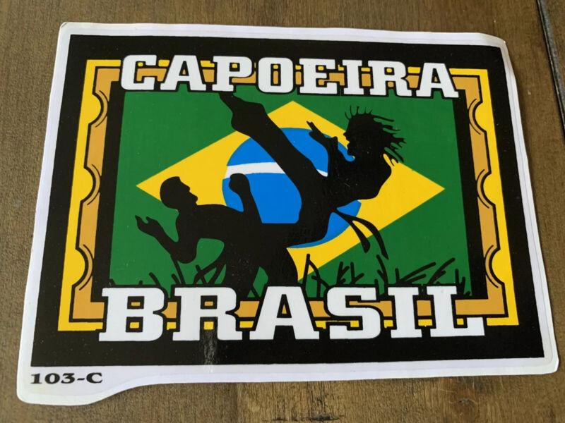 Capoeira Brazil Flag Vintage Sticker Vinyl Decal Brasil Music Dance Martial Art
