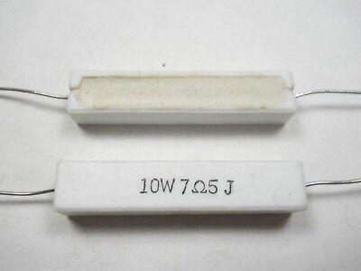 7.5 Ohm 10 Watt 5 Cement Power Resistor Nosnew Old Stockqty 10 Ead4