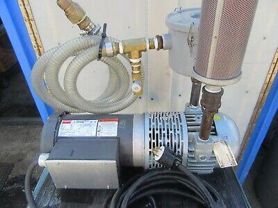 M99 Gast Rotary Vane Pump 2567-v108 Air Pump 115-208-230 V 1 Ph 1 12 Hp 60 Hz