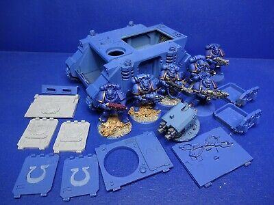 Rhino / Razorback + 6 Ultramarines mit Forgeworld Türen der Space Marines