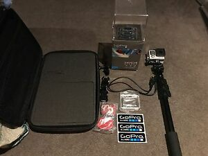 GoPro Hero 4 silver with selfie stick and gadget case Travancore Moonee Valley Preview