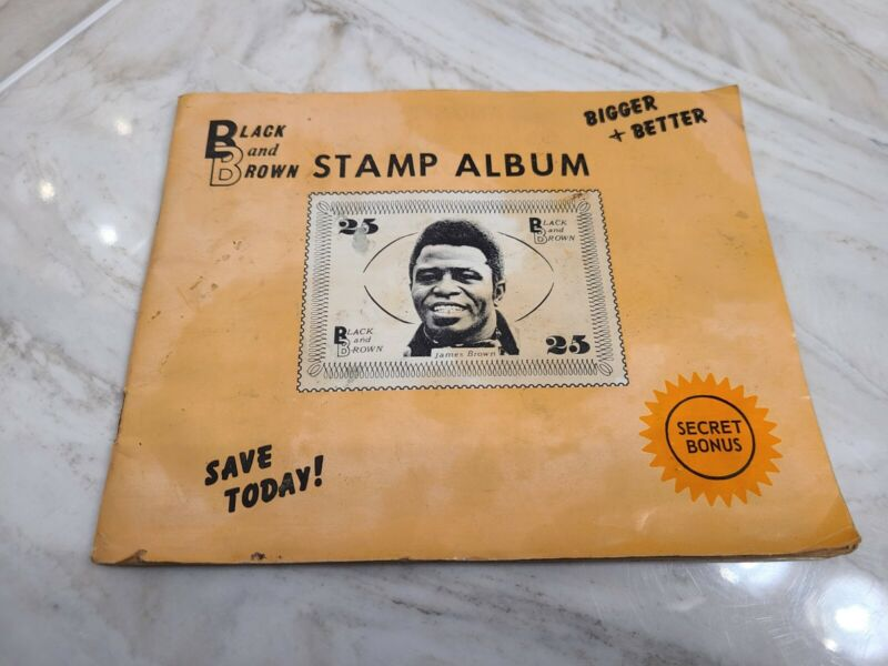 RARE JAMES BROWN Black & Brown Trading Stamp Album w/124 Stamps inside!!