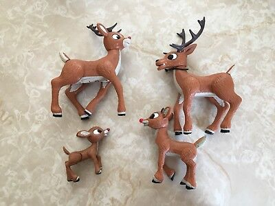 Rudolph the Red Nose Reindeer Light Up Nose Posable Figure Coach Lot 2007