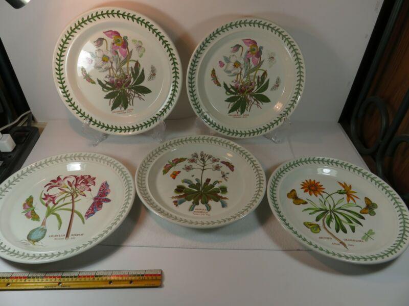 Portmeirion Botanic Garden 1972 Dinner Plates 10 1/2 inch Choice Venus Fly Lily