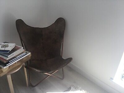 Butterfly leather chair with cooper legs/ iBride