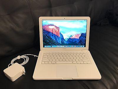 """Apple MacBook White 13"""" A1342 250GB HDD/4GB Ram//OS X Sierra 2016/ Fast Shipping"""