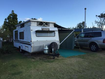 1995 EVERNEW SINGLE AXLE POPTOP 17FT CARAVAN Hope Island Gold Coast North Preview