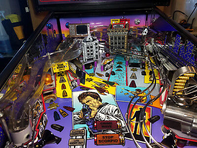 Dirty Harry Pinball mod - *Blood splattered* TV with VIDEO playback!