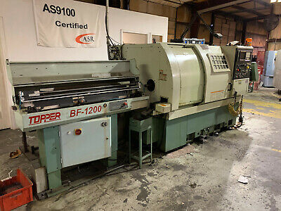 2001 Topper Tnl-100a Cnc Lathe With Bf-1200 Bar Feeder