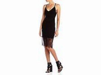 Lace Trim Tank Kleid (BCBG MaxAzria Women's Black Bridgett Tank Dress With Lace Trim NWT Small $118)