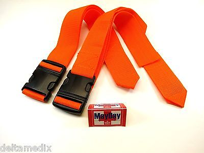 Medical Emergency Standard Strap Stretchers Belt Spine Board Set 2 191-mayday