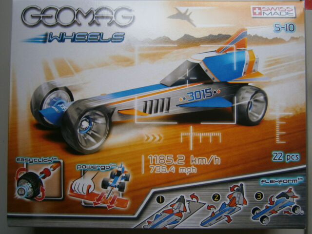 Geomag * Wheels Race * 22 Teile *Modellauto Blau* Baukasten* Magnete * Neu *OVP
