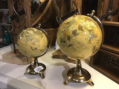 vintage Tisch Rotierenden Erde Weltkarte Globus Antike Geographie NEW 2019