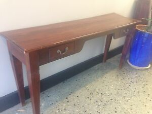 Timber side / hall table with 2 drawers West Leederville Cambridge Area Preview