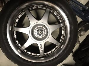 195/55R16 87V Nokian summer tires with Motegi Racing FF7 mags
