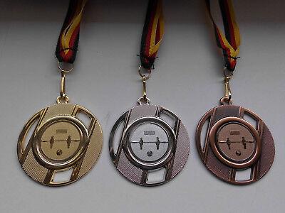Kicker Pokal Kids Medaillen 3er Set mit Band&Emblem Turnier Tischfußball Pokale & Preise e277