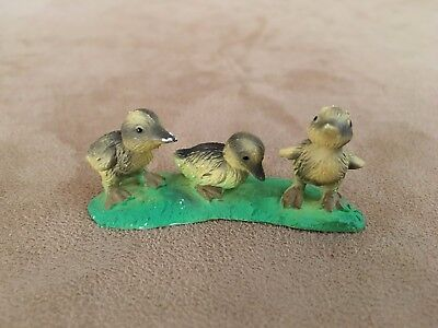 Bullyland Vintage ducklings hand painted Germany action figure farm animals duck