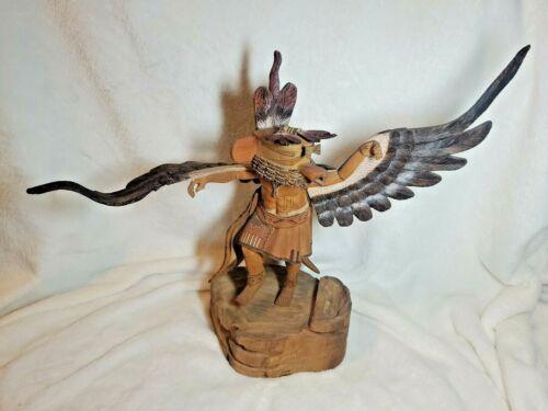 "Vintage Native American Hopi Eagle Kachina by Coolidge Roy Jr. 12"" x 15"""