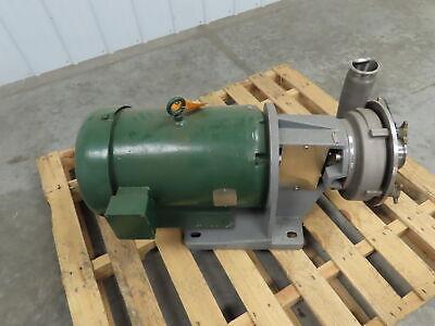 Fristam Fp3542-200 Stainless Steel Centrifugal Pump 20hp 3 Intake 230460v 3ph