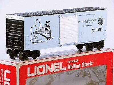 Lionel 6-9611 Flying Yankee TCA Boston Natl.Convention Hi-Cube Boxcar 1978 C9