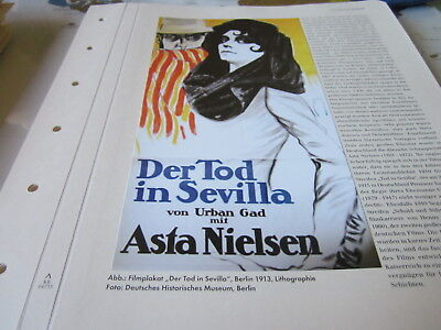Kaiserreich Archiv N4 4735 Filmtheater Asta Nielsen Der Tod in Sevilla 1913 gebraucht kaufen  Münsing