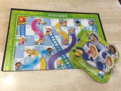 Chutes And Ladders Kid Board Game 2005 Full Size Version Complete Less Than  10