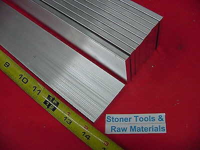10 Pieces 14 X 2 Aluminum 6061 Flat Bar 14 Long T6511 .25 Plate Mill Stock