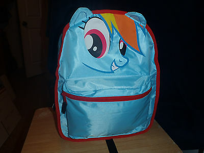 NEW MY LITTLE PONY RAINBOW DASH DERBY HOOVES BRONY 2 IN 1 REVERSIBLE BACKPACK (Rainbow Dash In My Little Pony)