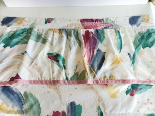 HTF Vtg 80s CROSCILL RIVIERA SHOWER CURTAIN Pastel Brushstrokes Paint Abstract