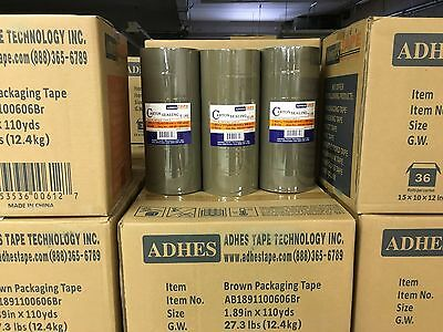 6 Rolls Premium Brown Carton Box Sealing Packing Tape 2.5 Mil Thick 2