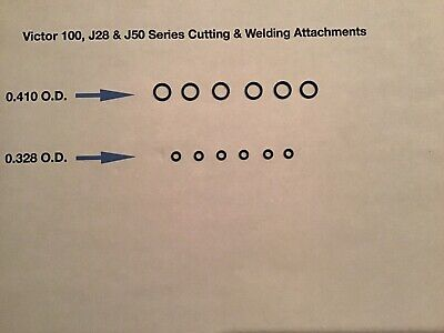 6 Sets Of Victor Cutting Torch Welding Tip O-rings 100j-28j-50 Style Handle