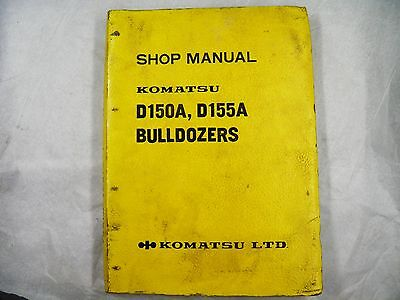 Komatsu D150a-1 D155a-1 Service Manual Book Dozer 5501-up