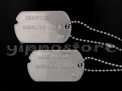 Deadpool Classic Costume (Wade Wilson Deadpool Classic Military Stainless Steel Costume Dog Tag Set)