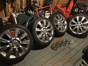 18 inch cadillac wheels with VW adapters