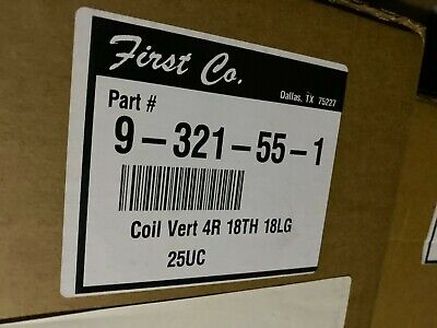 New First Co 9-321-55-1 18 X 18 4 Row Vertical Water Coil 187402